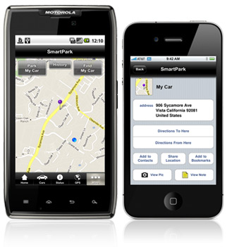 SmartPark helps you locate your car when in a large car park